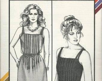 Uncut Vintage Sewing Pattern #1587 - PLEATED SUNDRESS - Stretch & Sew, Ann Person 1984  -Sizes 30-46 - Very Flattering -  So Cute!
