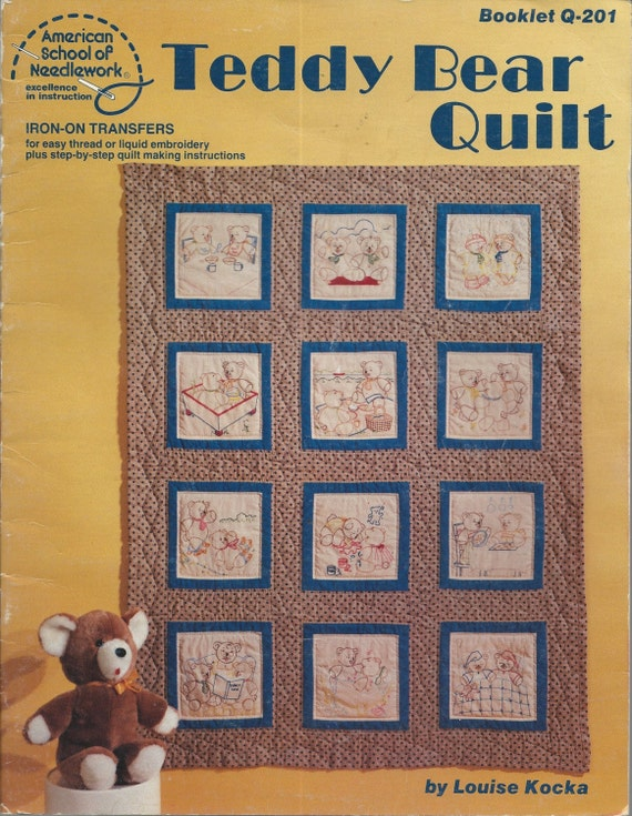 1981 TEDDY BEAR QUILT Pattern Book Complete with 12 Unused