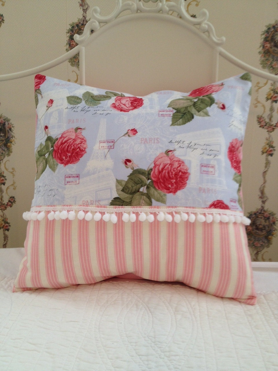 French Shabby Chic Pillows : French Country Pillow Cover Shabby Chic Pillow Cover Sham