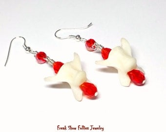 real coyote bone earrings