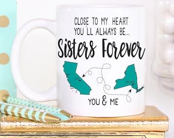 Sisters Mug - Sisters Gift - Sister Coffee Mug - Gift for Sister - Sister Birthday Gift - Sister ...