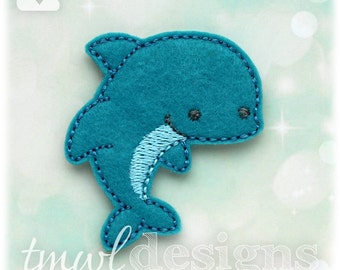 Dolphin Feltie Digital Design File - 1.75""