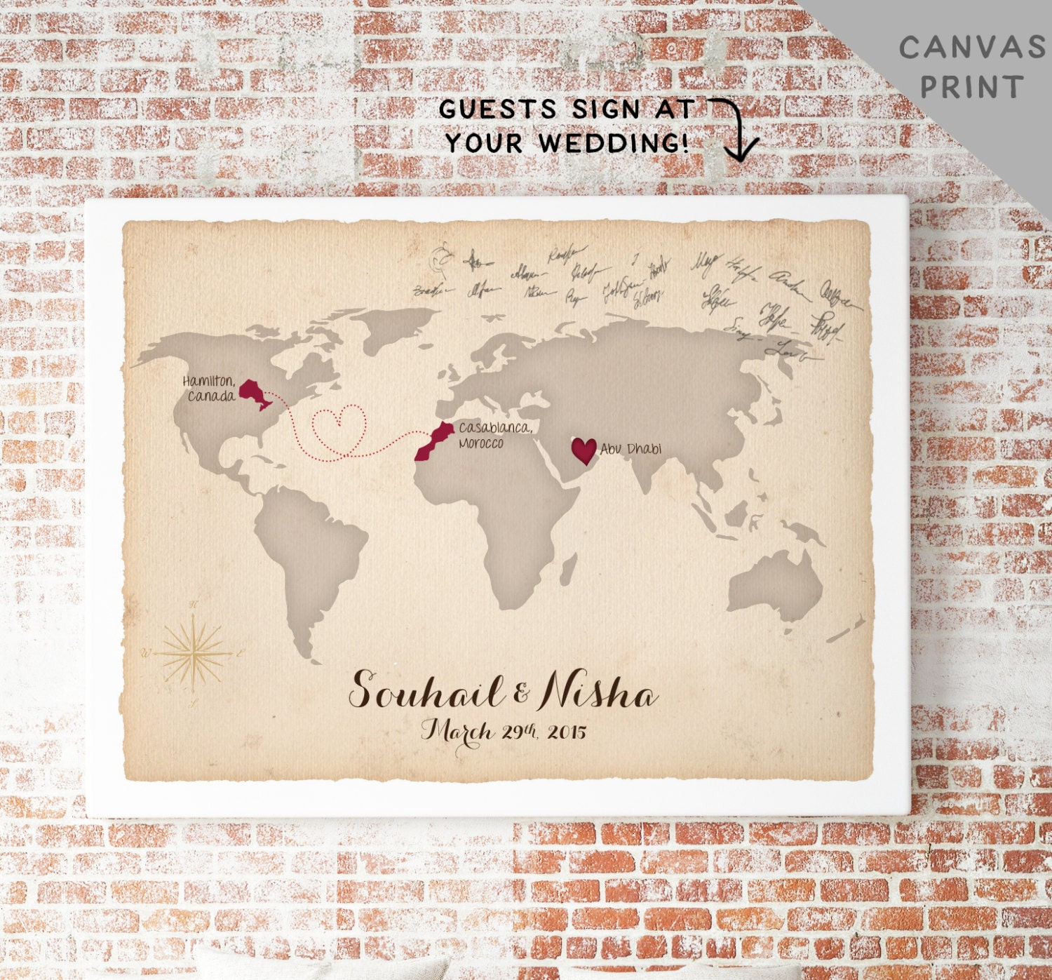 Vintage world map canvas by anchorandvine on etsy world map clipart personalized push pin world map gumiabroncs Image collections