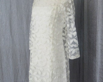 1960s Very Mod White Dress / Possibly an Extremely Hip Wedding Dress