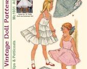 "KRVP-Mc1931DD, 18"" American Girl, Vintage 1950's Slip PATTERN, Digital Download"