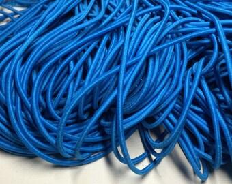 6 feet of 2.5mm Cyan Blue Elastic Cord