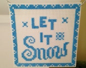 "New ""Let it Snow"" Cross Stitch Christmas Ornament"