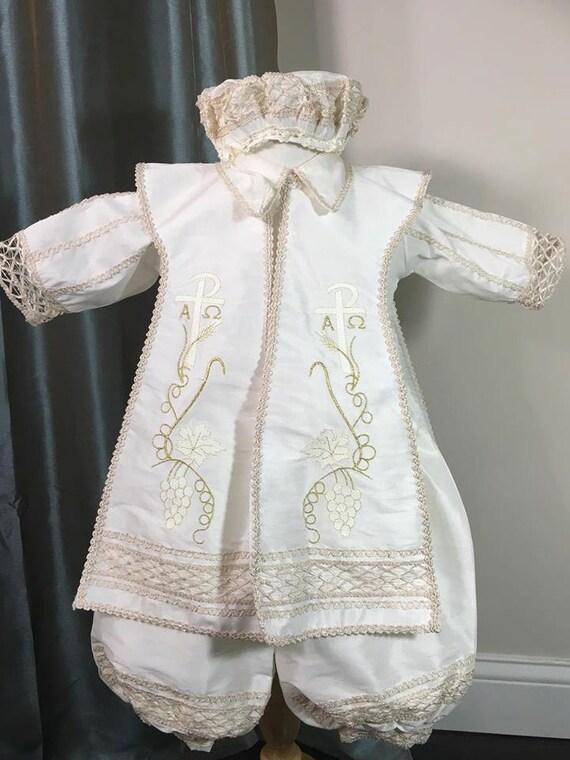 Italian Boy Name: Ben Baptism Outfit For Boy Four Piece Christening Set