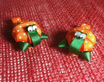 Orange Turtle (3D) Hair Clip
