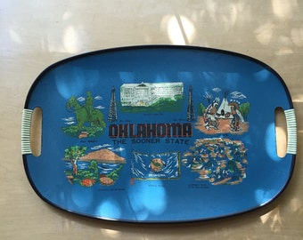 vintage Oklahoma tray made in Japan