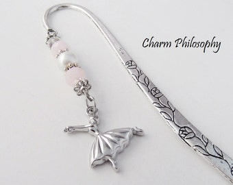 Ballerina Bookmark - Tibetan Silver Stationary - Dance Teacher Gifts - Ballet Bookmark