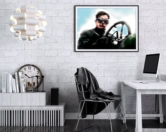 Racing Driver. High Quality Print.
