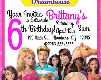 Barbie birthday invitations Etsy
