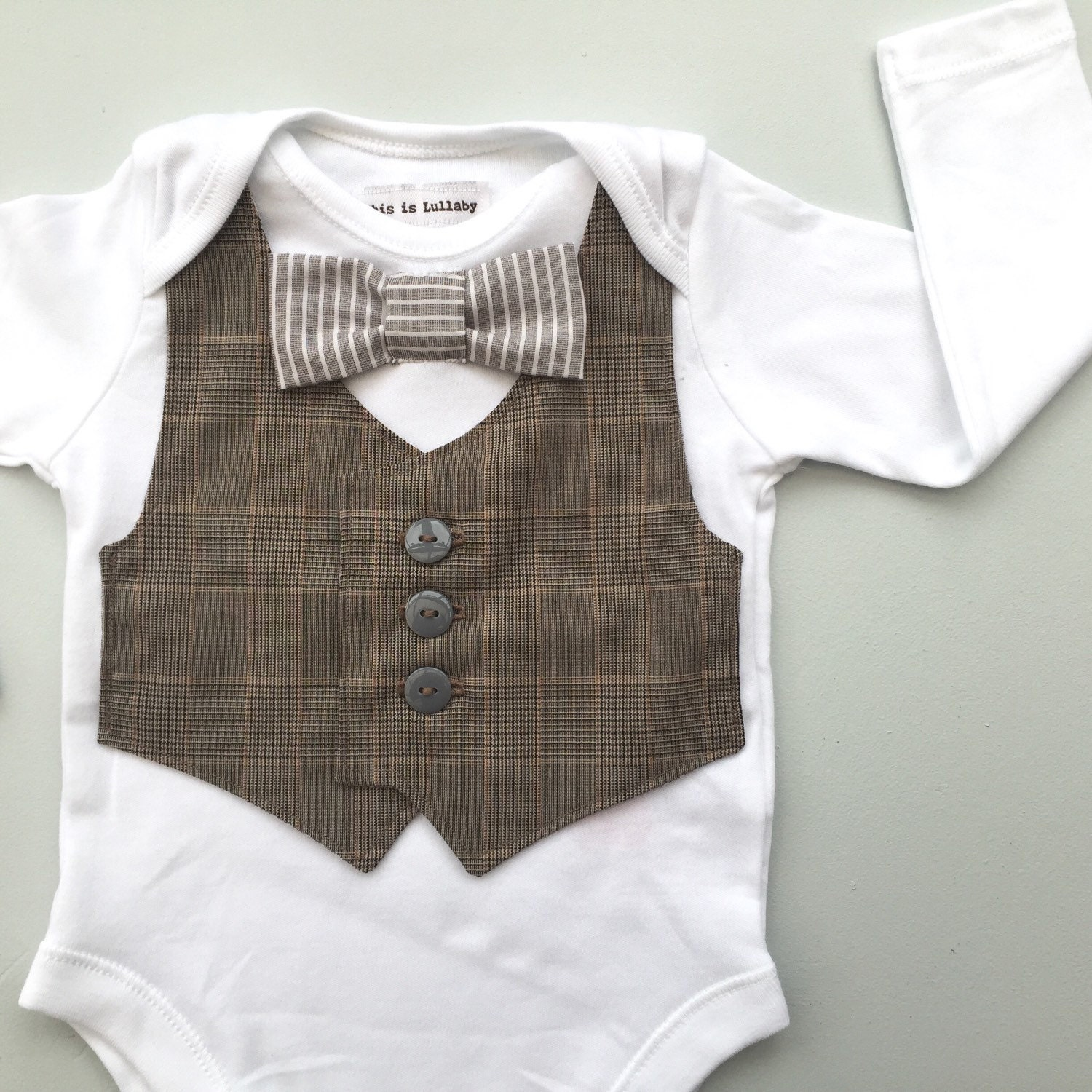 Baby boy clothes baby vest and bow tie bodysuit baby boys for Baby shirt and bow tie