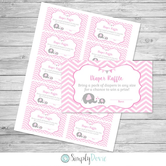 elephant diaper raffle ticket printable elephant baby shower