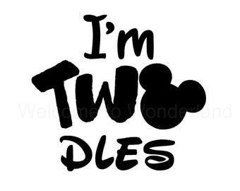 I'm TWOdes Solid DIY Iron On 2nd Birthday Decal in your choice of Color Black Red Blue White