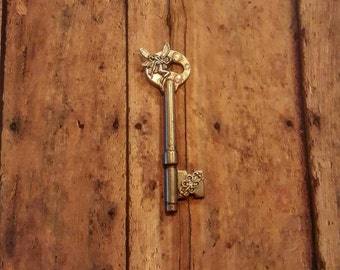 Faery - Vintage Key - Swarovski Crystals - Pendant Key - Boho Jewelry - Hippie Jewelry - Hipster Jewelry