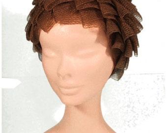Vintage Brown Leaf Hat