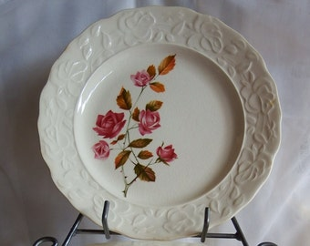 Vintage // Pink Rose // Plate // Set of 4
