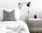 Black and White L Stripe Pillowcase
