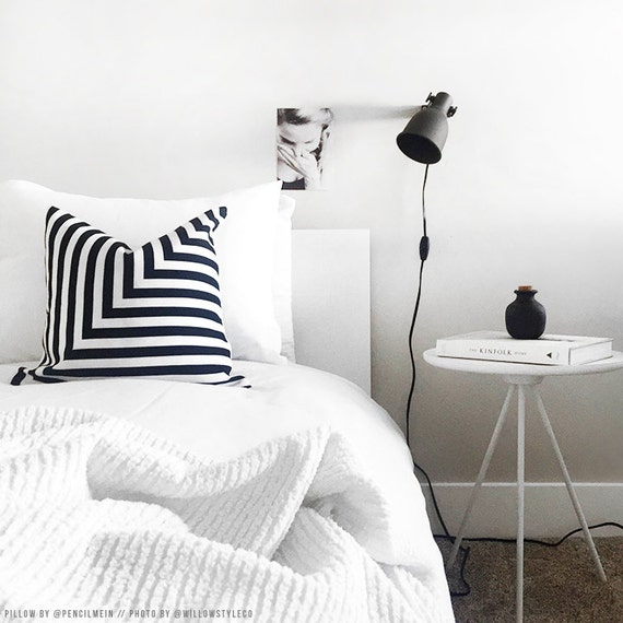 Black and White L Stripe Pillowcase