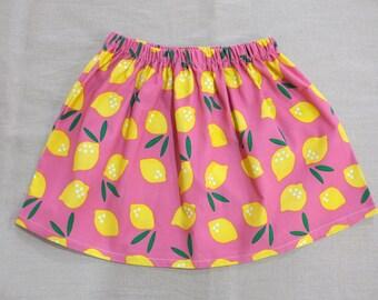 skirt - pink lemonade / retro organic cotton corduroy GOTS certified / eco friendly / girl / 3 4 5 6 years