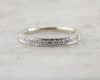 Decorative Channel Set Diamond Wedding Band with Comfort Fit  2LP456-P