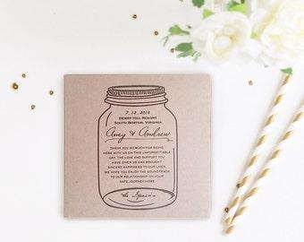 Rustic Mason Jar Wedding Favors, Custom Kraft CD Sleeves, Album Covers, Photography Portfolio Dvd/CD Covers, Barn Wedding Favors