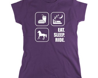 Eat Sleep Ride Horses Shirt - horse shirt, horseback, equestrian - ID: 281