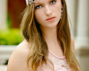 Crystal Prom headband - girls headband - Rhinestone headband - rhinestone wedding headband - chandelier headband - bridesmaides headband