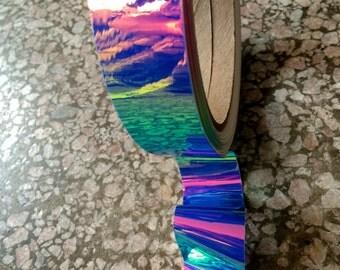Tape | UV Jellyfish Morph Hoop Tape Rolls Unique Specialty Tape Rainbow Color Shift Nail Art Design Hoop Lure Craft Gymnastic Gnar Hoop gHwc