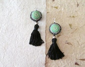 Tassel Ethnic Earrings, Tribal Traditional Ecofriendly Jewelry, Women Teens Fabric Earrings