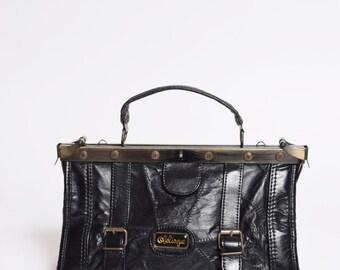 Vintage Black Leather 1990's Mini Handbag