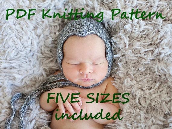 Pine Cone Knitting Pattern : DOWNLOADABLE PDF PATTERN pine cone bonnet knitting pattern nb