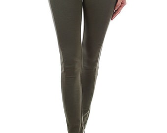 Womens Olive Jeggings