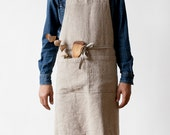 Natural Stone Washed Linen Luxury Apron
