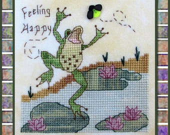 Feeling Happy Cross Stitch Pattern from Designs by Lisa