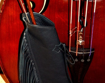 Double Bass Bow Quiver, Upright Bass Leather Quiver,  Standup Bass bow quiver,  Handmade unique leather bass bow quiver, cool bass quiver