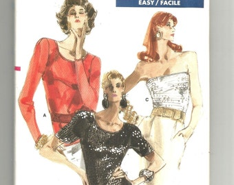 UNCUT 7109 Vogue Sewing Pattern Close Fitting Top w Variations Vintage 1980s