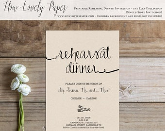 Printable Rehearsal Dinner Invitation - the Ella Collection