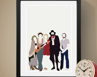Fleetwood Mac Poster, Music Poster, People, Art Print