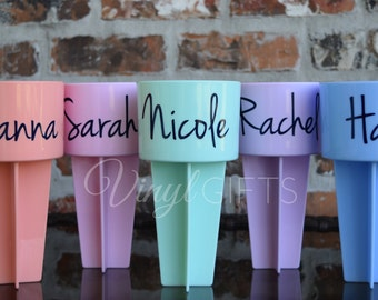 Personalized Script Name Beach Spike Drink Holder