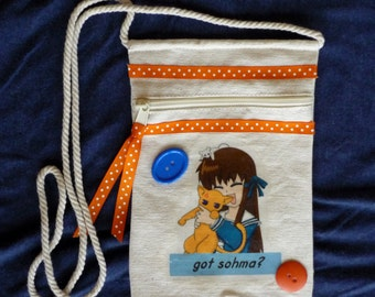 Fruits Basket - Tohru and Kyo Cat Form - Canvas Bag/Purse