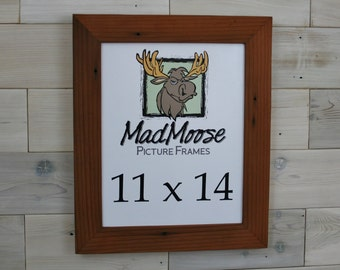 """11x14 Reclaimed Redwood [Chunky x 2""""] Picture Frame"""