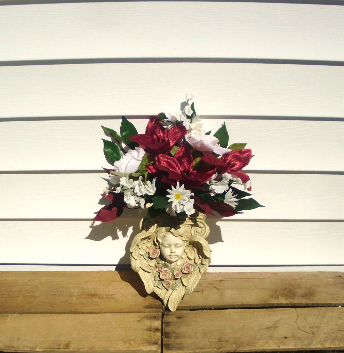 Wall Sconce Arrangement Angel wall Sconce Container Floral on Wall Sconces That Hold Flowers id=73928