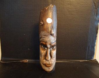 Driftwood Carving Woman Goddess Lucky Wood Spirit  Sculpture