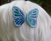 Tie Dye Metallic Blue Butterfly Hairclips (4 options available)