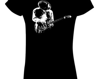 Stevie Ray Vaughan T Shirt Blues Rock legend Texas flood Couldn't stand the weather Soul to Soul