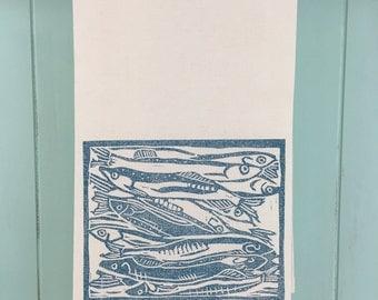 Light Blue Capelin Tea Towel