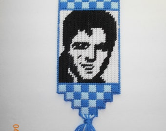 Elvis Wallhanging in Plastic canvas